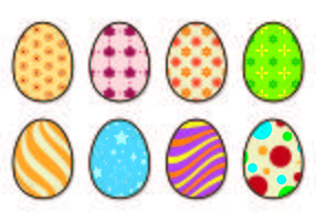 Icons Of Easter Eggs