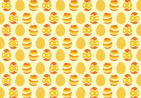 Yellow Easter Egg Pattern Background
