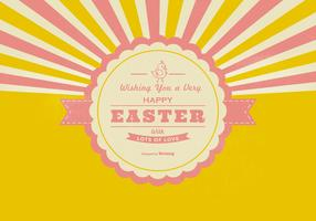 Retro Happy Easter Background