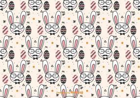 Doodle Hipster Easter Pattern