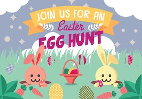 Bunny Hunting Easter Eggs