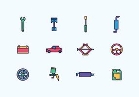 Pack of Automobile Repair Icons