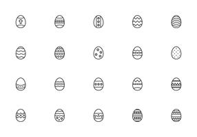 Liner Easter Eggs Vectors