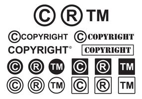 Set of Minimal Copyright Symbol Vectors
