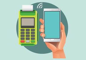 NFC Payment Vector in Realistic Style