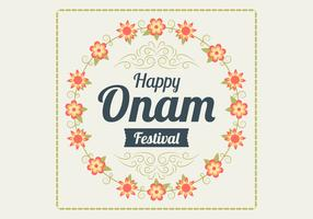 Floral Onam Background Vector