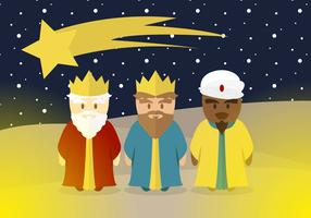 Epiphany Kings Magic Illustration Vector