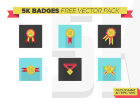 5k Badges Free Vector Pack