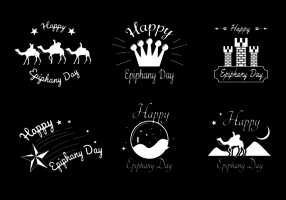 Vintage Epiphany Day Vector