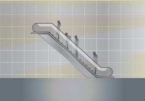Modern Escalator Illustration