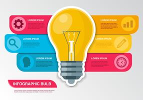 Free Bulb Idea Infographic Vector
