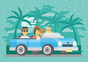 Carpool Vector Background