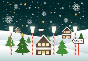 Free Winter Vector Landscape Illustration