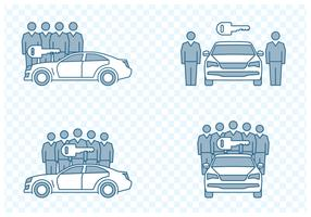 Car Sharing Icons