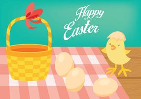 Easter Chick Vector Background
