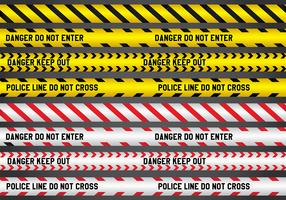 Police and Danger Line Vectors
