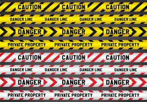Crime and Danger Line Vectors