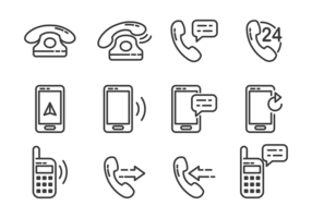 Tel Icons Vector