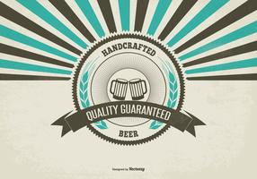 Retro Promotional Craft Beer Illustration