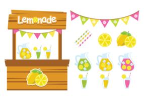 Cute Lemonade Stand Vectors