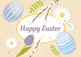Free Spring Happy Easter Vector Illustration
