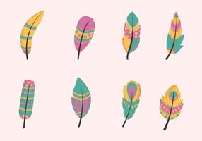 Flat Feather Vectors