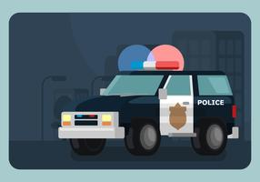 Lighted Police Car Illustration