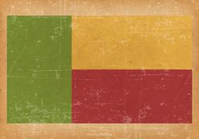 Flag of Benin on Grunge Background