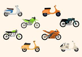 Flat Motorcycle Vectors