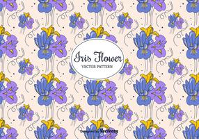 Iris Flowers Vector Pattern