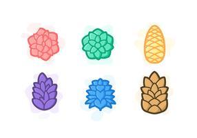 Free Unique Pine Cones Vectors
