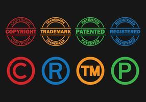 Copyright Symbol Vectors Set