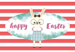 Happy Easter Cute Rabbit Vector