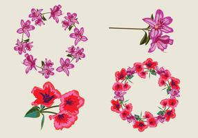 Rhododendron Floral Element Vector