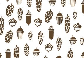 Brown Pine Cones Pattern
