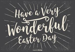 Typographic Happy Easter Illustration