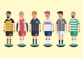 Subbuteo Game Players Vector Pack