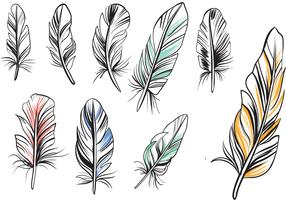 Free Vintage Feathers Vectors
