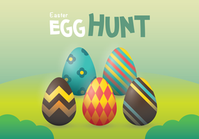Easter Egg Hunt Vector Wallpaper