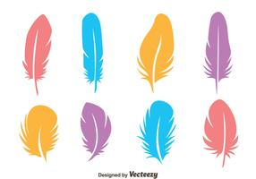 Colorful Bird Feather Vectors