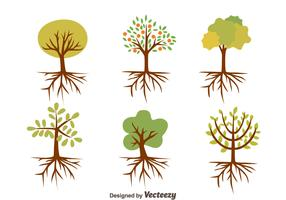 Nice Tree With Roots Vectors