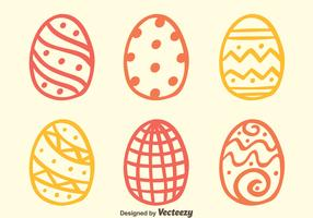 Sketch Easter Eggs Vectors