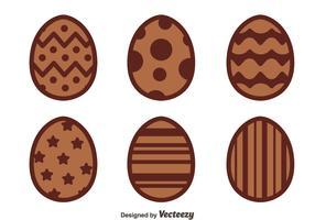 Nice Chocolate Easter Eggs Vectors