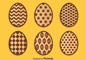 Chocolate Easter Eggs On Orange Vectors