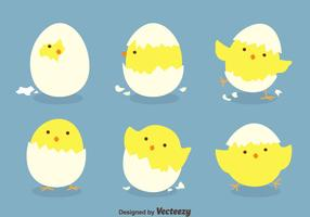 Funny Easter Eggs Vectors