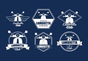 Lambretta Badges Free Vector