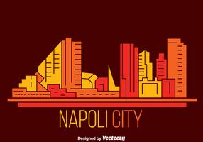 Napoli City Skyline Vector