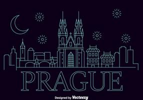 Prague City Skyline Vector