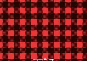 Red Flannel Print Vector