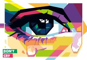 Don't Cry vector WPAP
